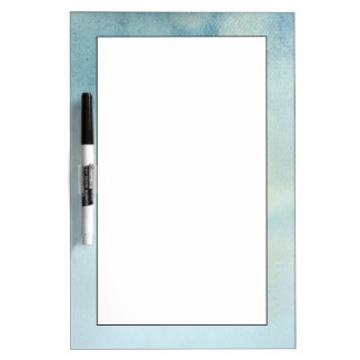 watercolor background in pastel blue and yellow dry erase board