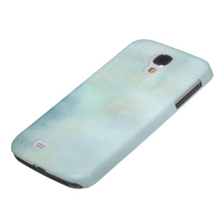 watercolor background in pastel blue and yellow galaxy s4 case
