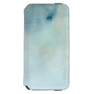 watercolor background in pastel blue and yellow incipio watson™ iPhone 6 wallet case