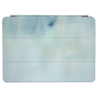 watercolor background in pastel blue and yellow iPad air cover
