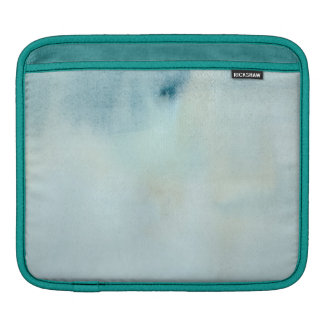 watercolor background in pastel blue and yellow iPad sleeve