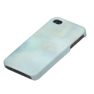 watercolor background in pastel blue and yellow iPhone 4/4S cases