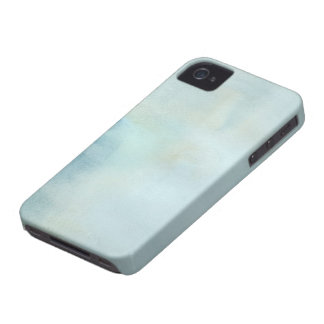 watercolor background in pastel blue and yellow iPhone 4 case