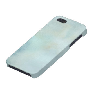 watercolor background in pastel blue and yellow iPhone 5/5S cases