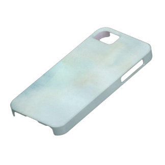 watercolor background in pastel blue and yellow iPhone 5 case