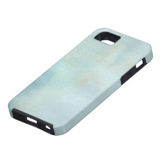 watercolor background in pastel blue and yellow iPhone 5 covers