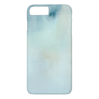 watercolor background in pastel blue and yellow iPhone 7 plus case