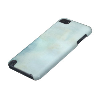 watercolor background in pastel blue and yellow iPod touch (5th generation) case