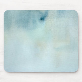 watercolor background in pastel blue and yellow mouse mat