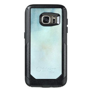 watercolor background in pastel blue and yellow OtterBox samsung galaxy s7 case