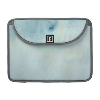 watercolor background in pastel blue and yellow sleeve for MacBook pro