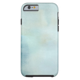 watercolor background in pastel blue and yellow tough iPhone 6 case