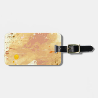 watercolor background luggage tag