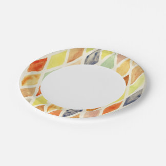 Watercolor background paper plate