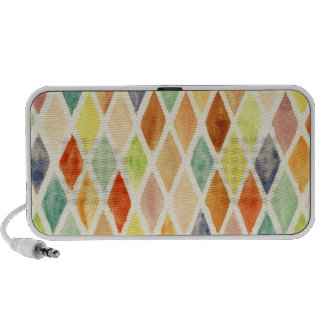 Watercolor background iPod speakers