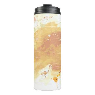 watercolor background thermal tumbler