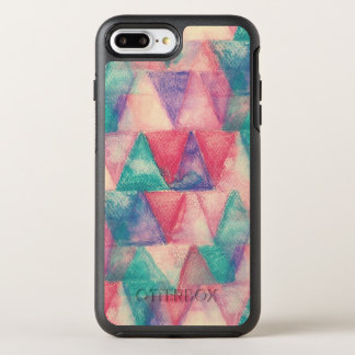 watercolor background triangles OtterBox symmetry iPhone 8 plus/7 plus case