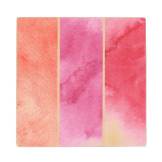 watercolor banners background for your design wood coaster