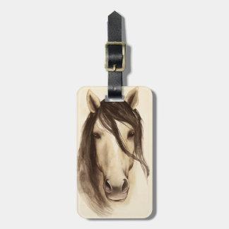 Watercolor Barn Animals | Horse Bag Tag