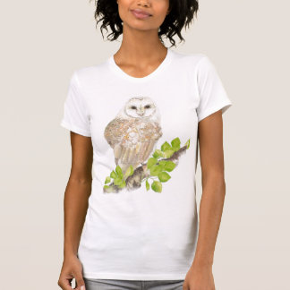 Watercolor Barn Owl T-Shirt