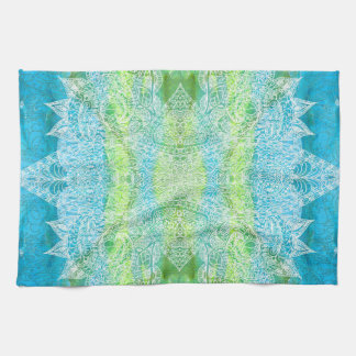Watercolor Batik Paisley Tea Towel