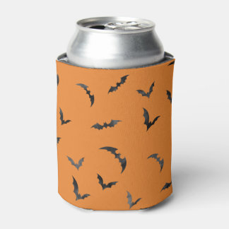 Watercolor Bats Halloween Can Cooler