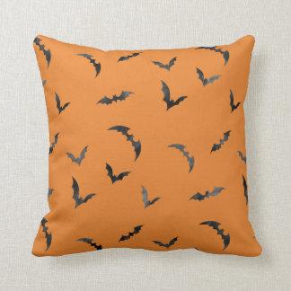 Watercolor Bats Halloween Cushion