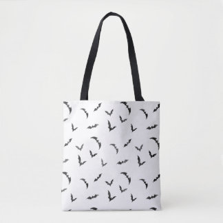 Watercolor Bats Halloween Tote Bag