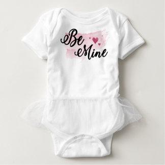 Watercolor Be Mine Baby Valentine Bodysuit