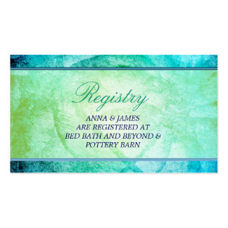 Watercolor Beach, Palm Trees Registry Card Pack Of Standard Business Cards
