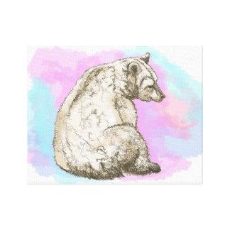 Watercolor Bear Canvas Print