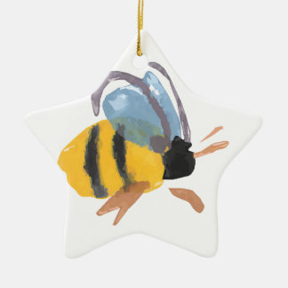 Watercolor Bee Christmas Ornament