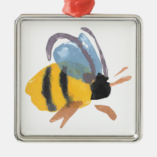 Watercolor Bee Christmas Tree Ornaments
