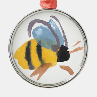 Watercolor Bee Christmas Ornaments
