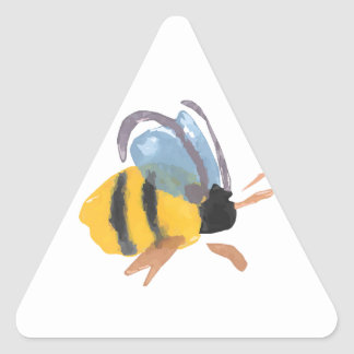 Watercolor Bee Triangle Sticker
