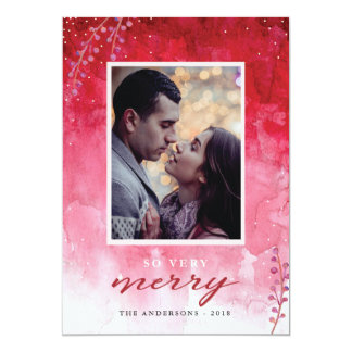 Watercolor Berries Christmas Card