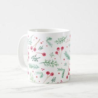 Watercolor Berries Holiday Mug