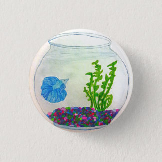 Watercolor Betta Fish 3 Cm Round Badge