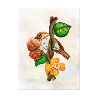 Watercolor bird canvas print