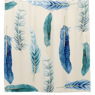 Watercolor Bird Feather Wildlife Nature Home Decor Shower Curtain