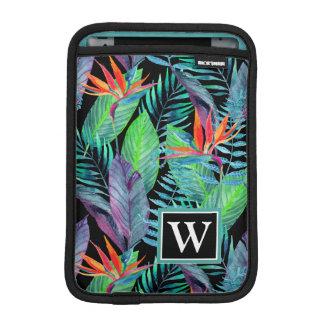 Watercolor Bird Of Paradise | Add Your Initial iPad Mini Sleeve