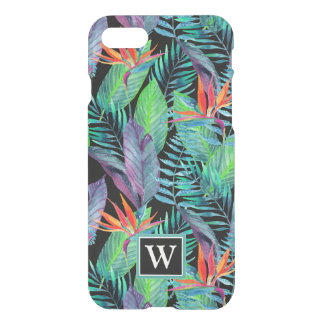 Watercolor Bird Of Paradise | Add Your Initial iPhone 8/7 Case