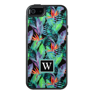 Watercolor Bird Of Paradise | Add Your Initial OtterBox iPhone 5/5s/SE Case