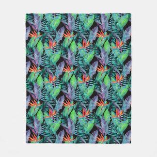 Watercolor Bird Of Paradise Fleece Blanket
