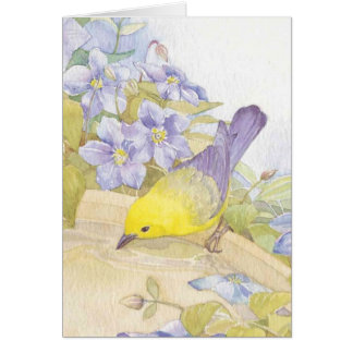 watercolor birds card