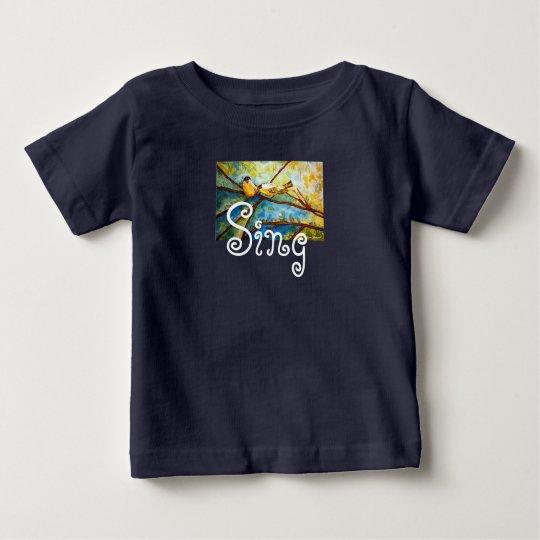 Watercolor Birds Sing Infant T-Shirt