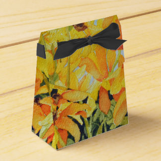 Watercolor Black-Eyed Susan Gift Box Wedding Favour Boxes