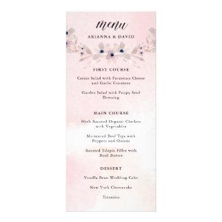Watercolor Bliss | Blush Pink Floral Wedding Menu