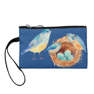 Watercolor Blue Bird Family Bag