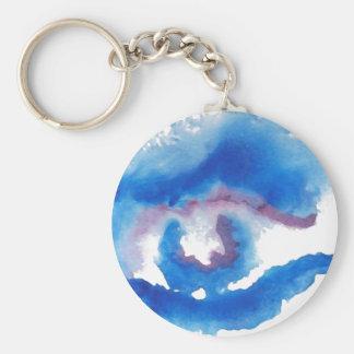 Watercolor Blue Eye CricketDiane Art Key Chain